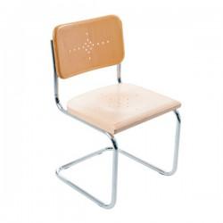 Bauhausstol utan karm massiv