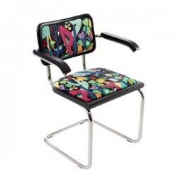 Bauhausstol med karm tygbeklädd