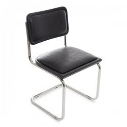 Bauhausstol svart/konstskinn