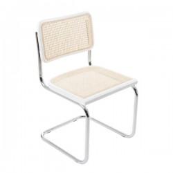 Vit Bauhausstol utan karm rotting